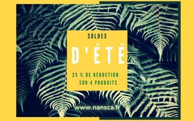 4 produits Nansca en soldes d'été !